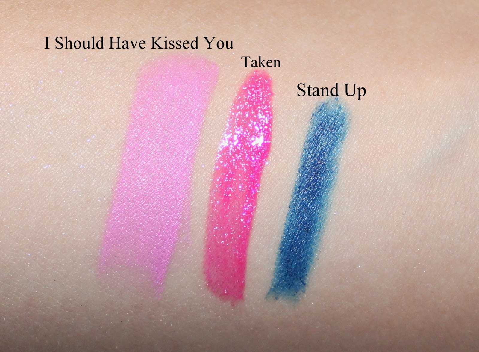 Make Up by One Direction Up All Night Swatches