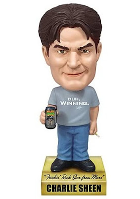 Charlie Sheen Wacky Wobbler Talking Bobble Head by Funko
