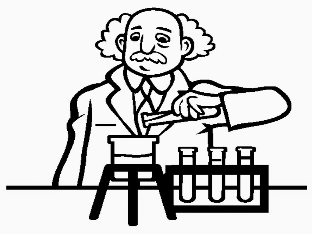 Scientist Coloring Pages To Print Scientist Coloring Page