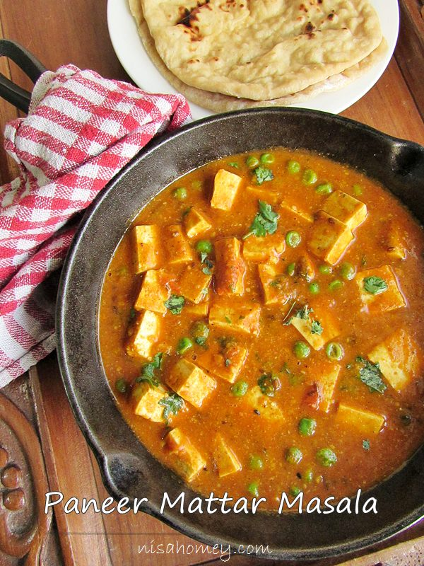 Matar Paneer Recipe - Mutter Paneer Recipe | Cooking Is Easy