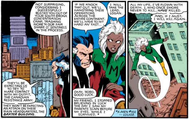 Clips from the Uncanny X-Men Days of Future Past comic