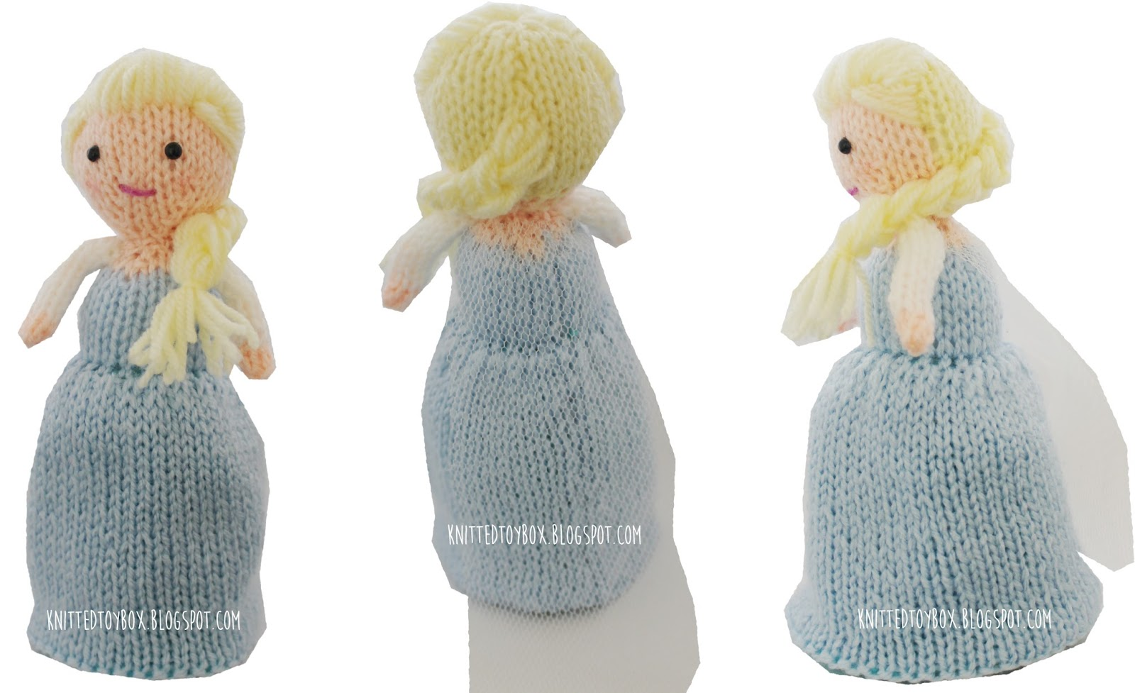 Knitting Patterns For Frozen : Knitted Toy Box: Elsa Frozen Flip Doll