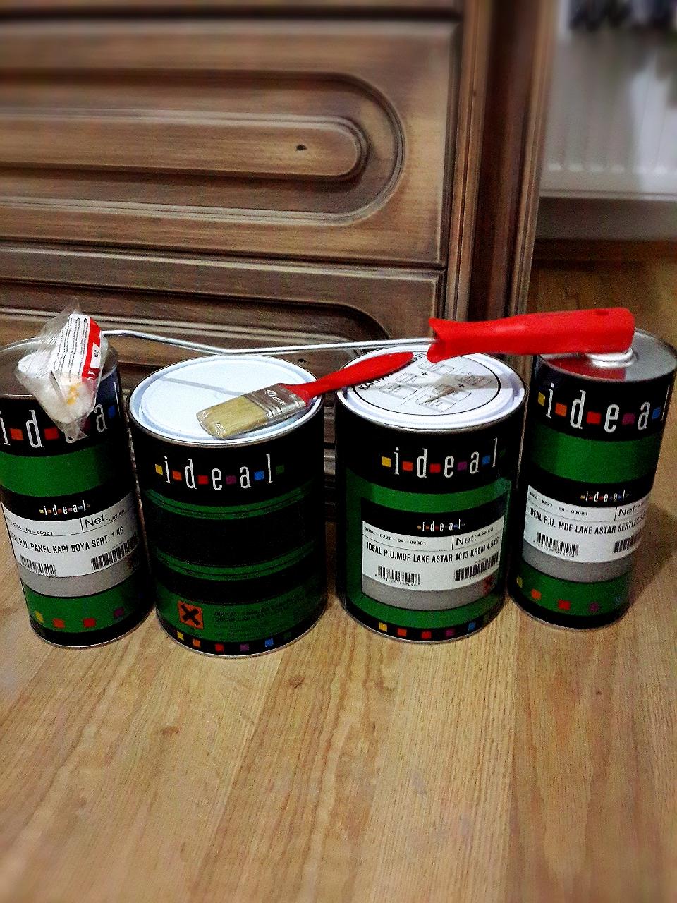 Evde mobilya boyama malzemeleri