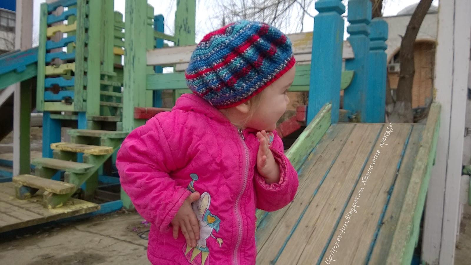 вязанная шапка на ребенка