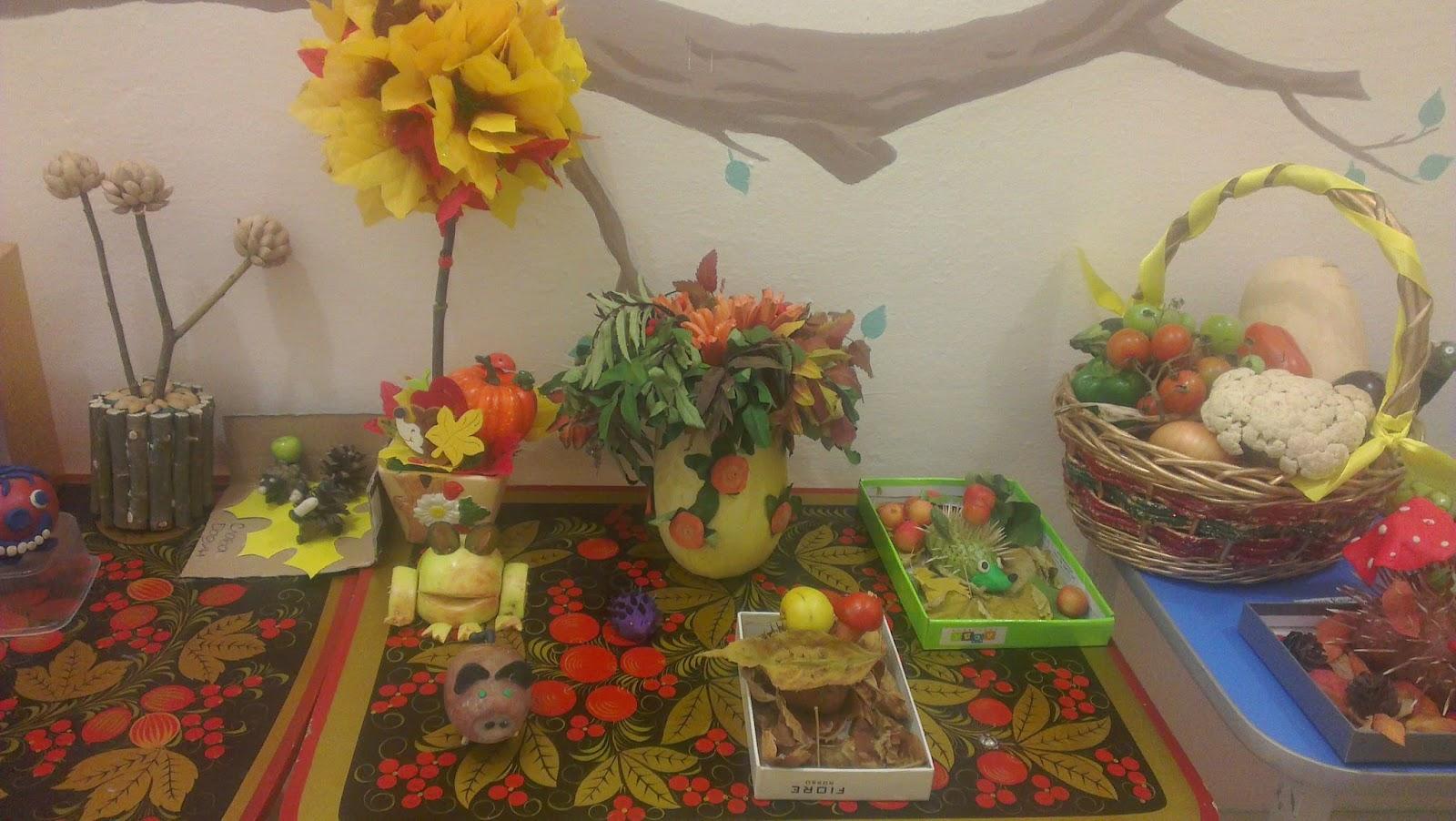 Композиции осенние поделки в детский сад