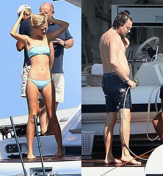 The actor, Leonardo DiCaprio and girlfriend, Toni Garrn basked in the gorgeous scenery of Saint Tropez, France on Wednesday, July 23, 2014.