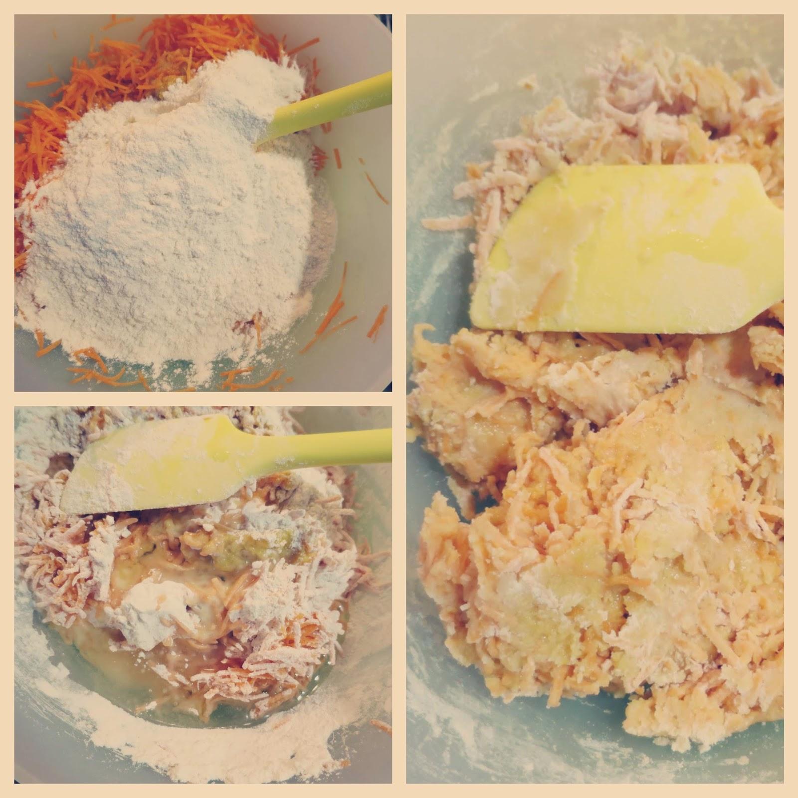 preparazione 2 torta di carote