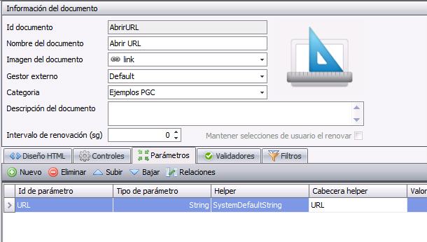 Atlas SBI - Creación documento con parámetro
