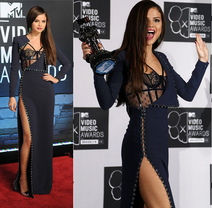 Selena Gomez at VMA 2013 Awards in Atelier Versace