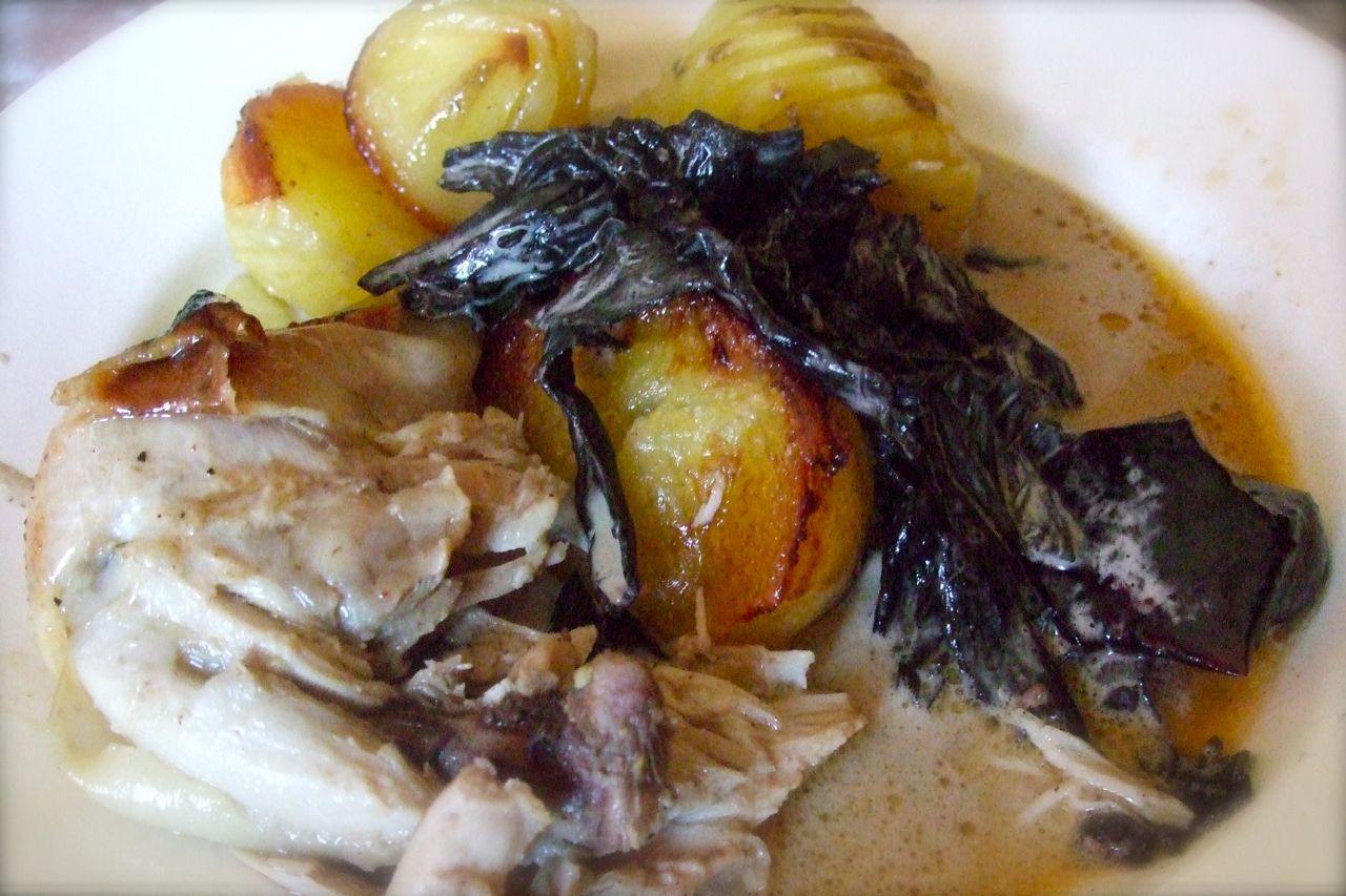 svart kyckling recept