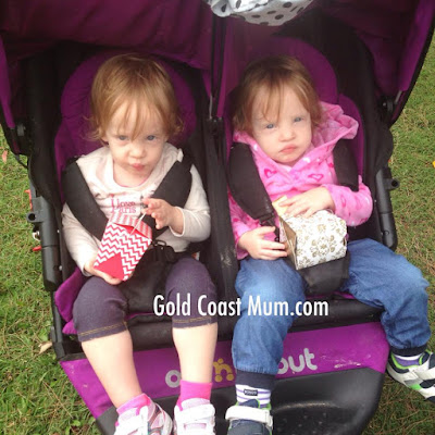 Gold Coast Mum, twins, out n about double pram,