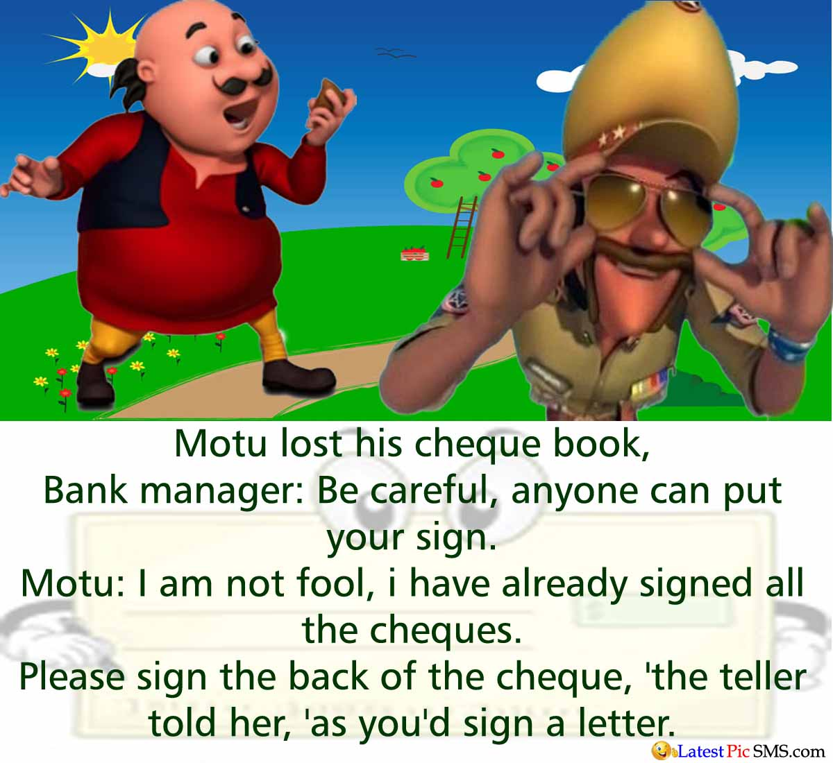 Motu Patlu Singham sir jokes