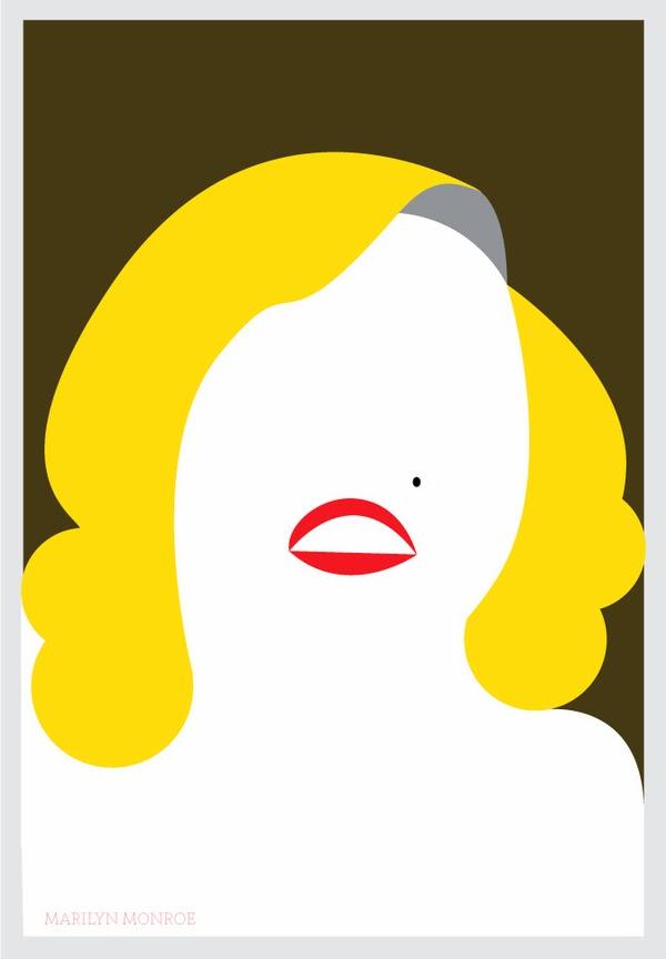 Ilustración Marilyn Monroe por Al Jabbar