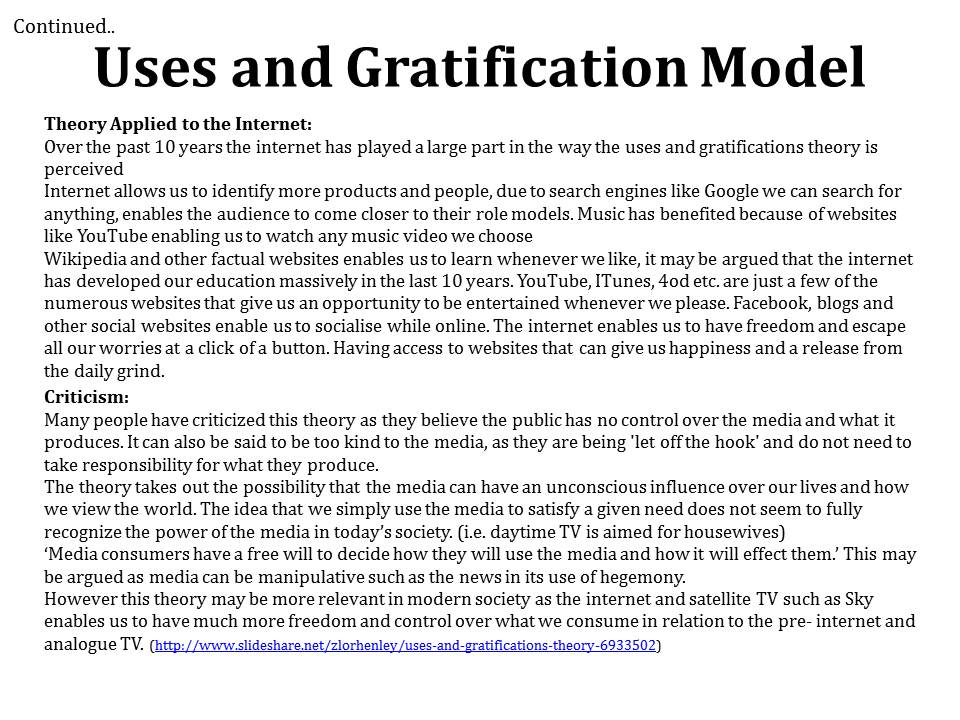 uses and gratification theory pdf
