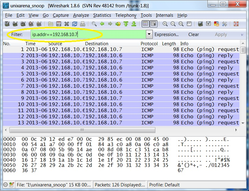 Wireshark how to analyse captured network data unixarena - Wireshark filter destination port ...