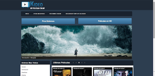 Template Blogger Kideo / Cuevana
