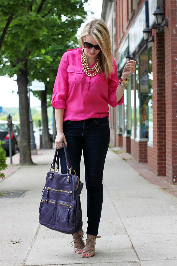 neon blouse