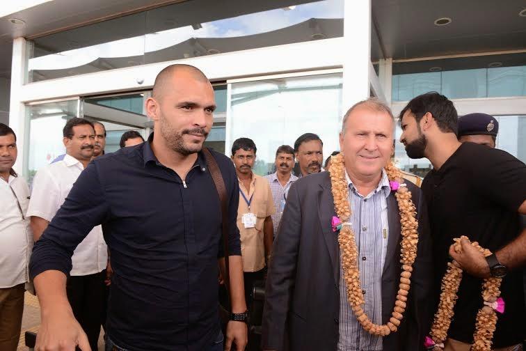 Zico arrives in India