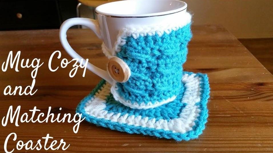 Free Crochet Mug Coaster Pattern : Crochet from J: Mug Cozy and Coaster