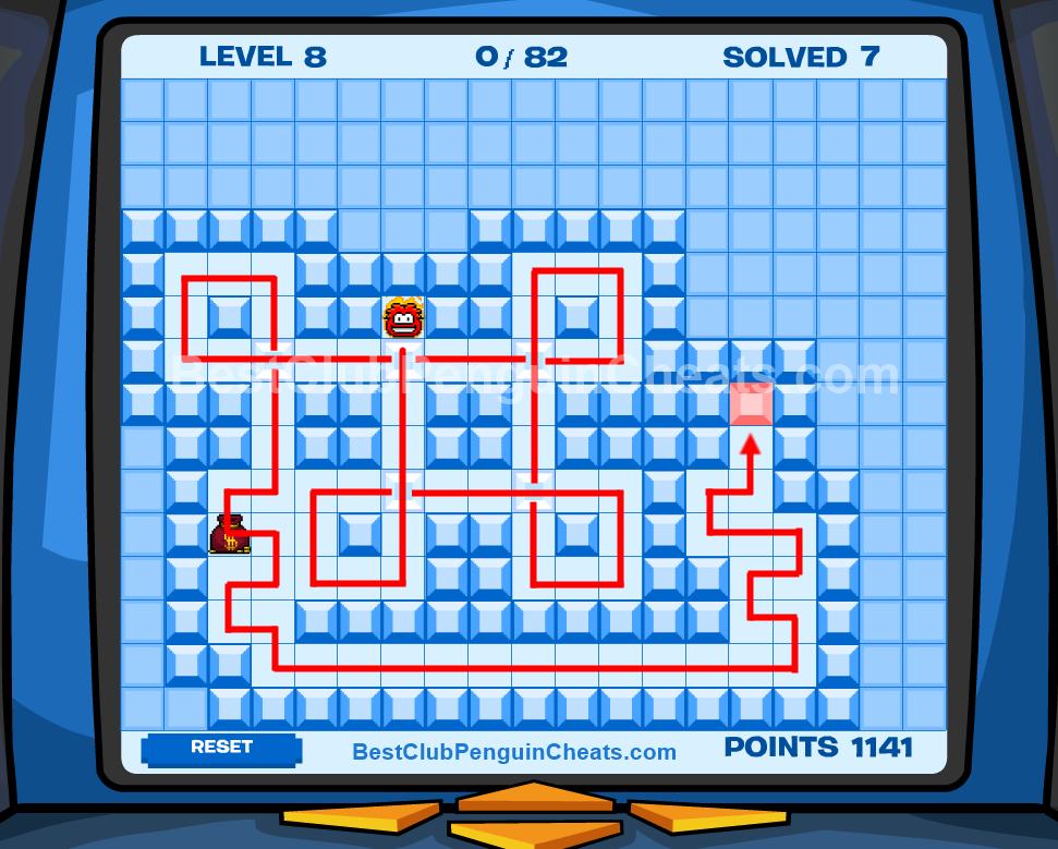 Club Penguin Thin Ice Cheats Level 8