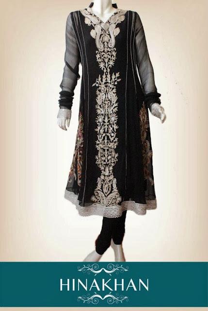 Latest Party Wear Dress 2013-2014 | Hina Khan Latest Party Wear Dress 2013-2014 By Fashion She9