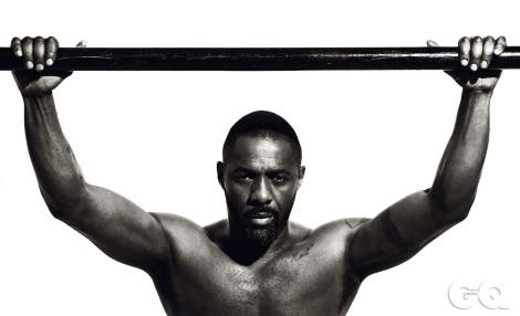 Idris Elba shirtless