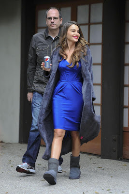 Sofia Vergara sexy cleavage in Diet Pepsi Commercial Shoot