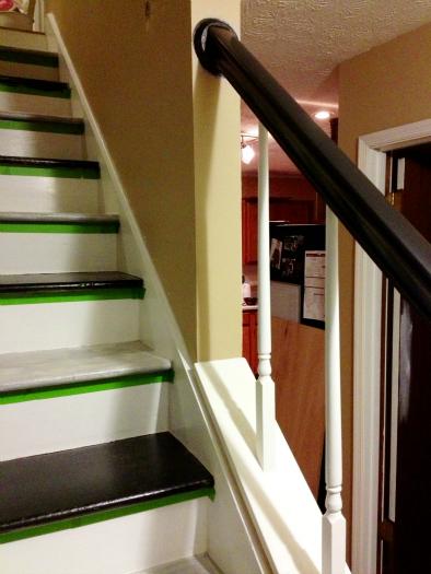 black handrail