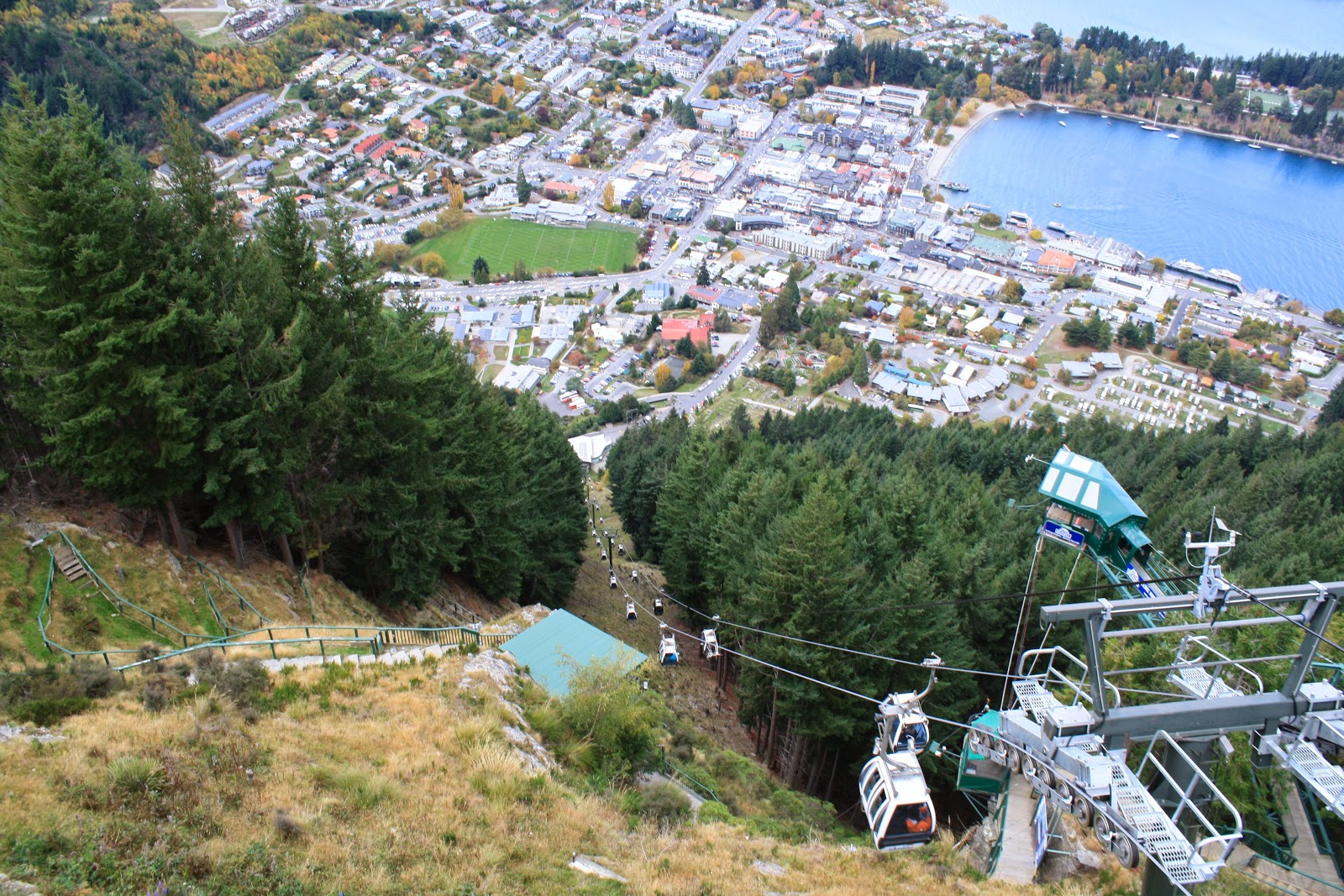 Queenstown from the top of the gondolas.