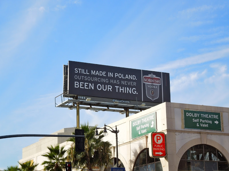 Sobieski Vodka outsourcing billboard