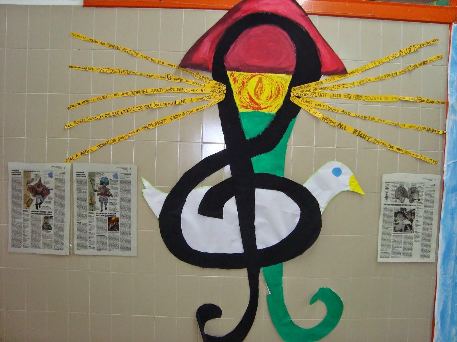 Paz, faro e música!!!Colaboración coa aula de Inglés.