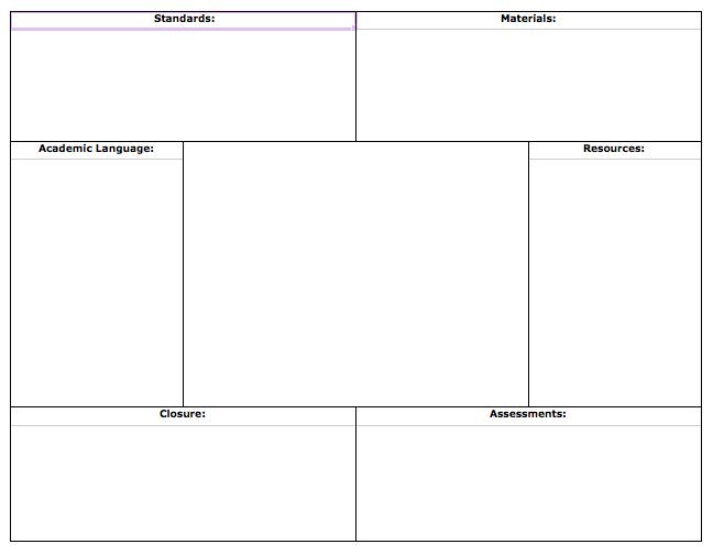 Unit Lesson Plan Template – Unit Lesson Plan Template