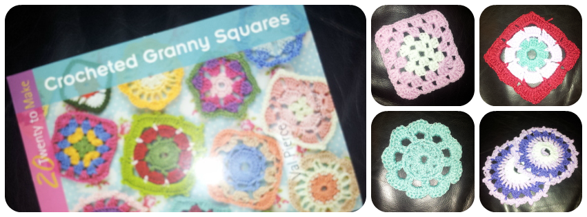 crocheted granny squares instruction book