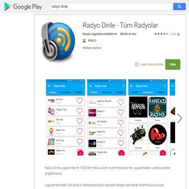 play google com - radyo dinle