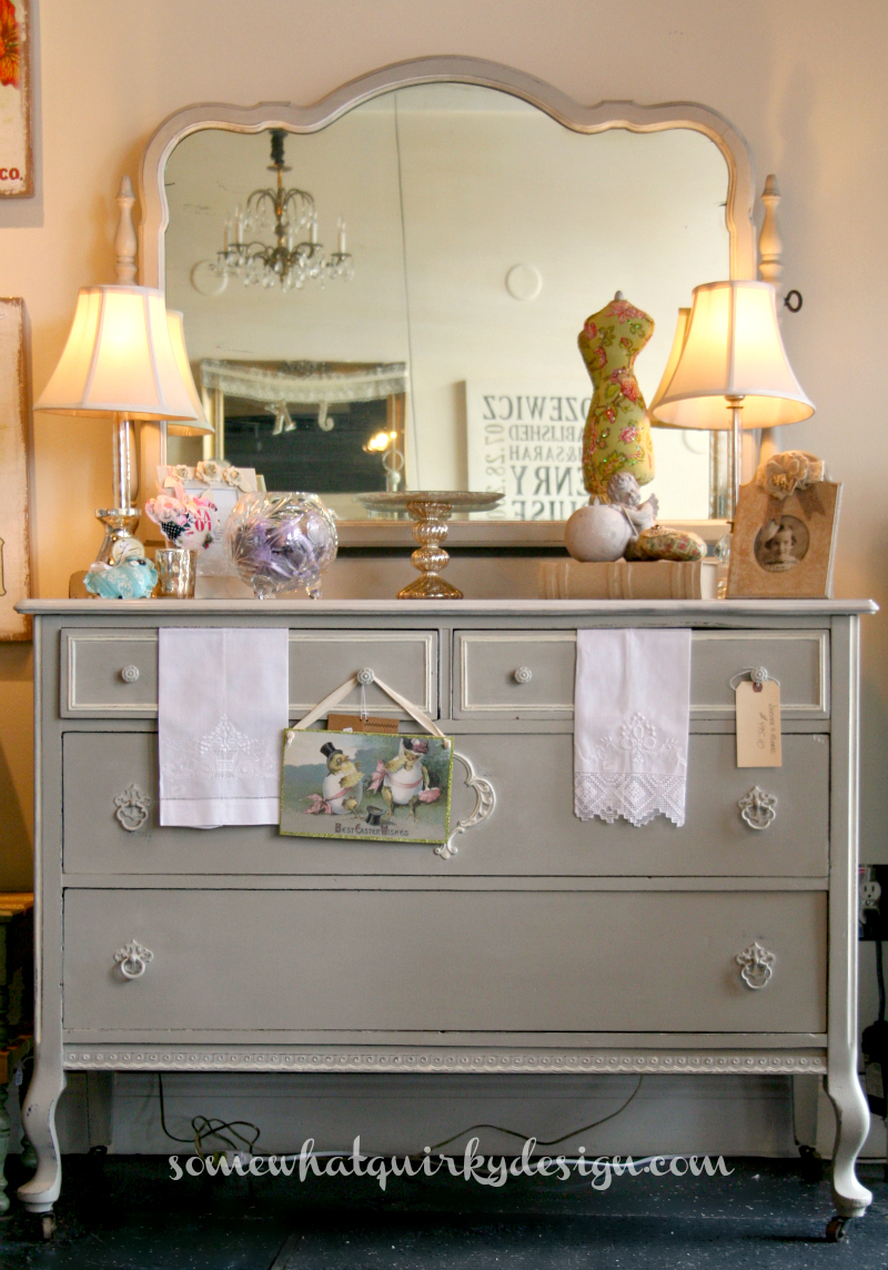 Somewhat Quirky Design | Painted dresser