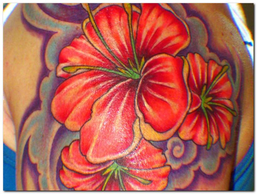 tribal hibiscus flower tattoo. Black Bedroom Furniture Sets. Home Design Ideas