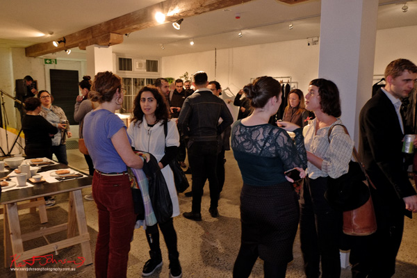 Crowd, opening party Brand X Creative Retail Residency.