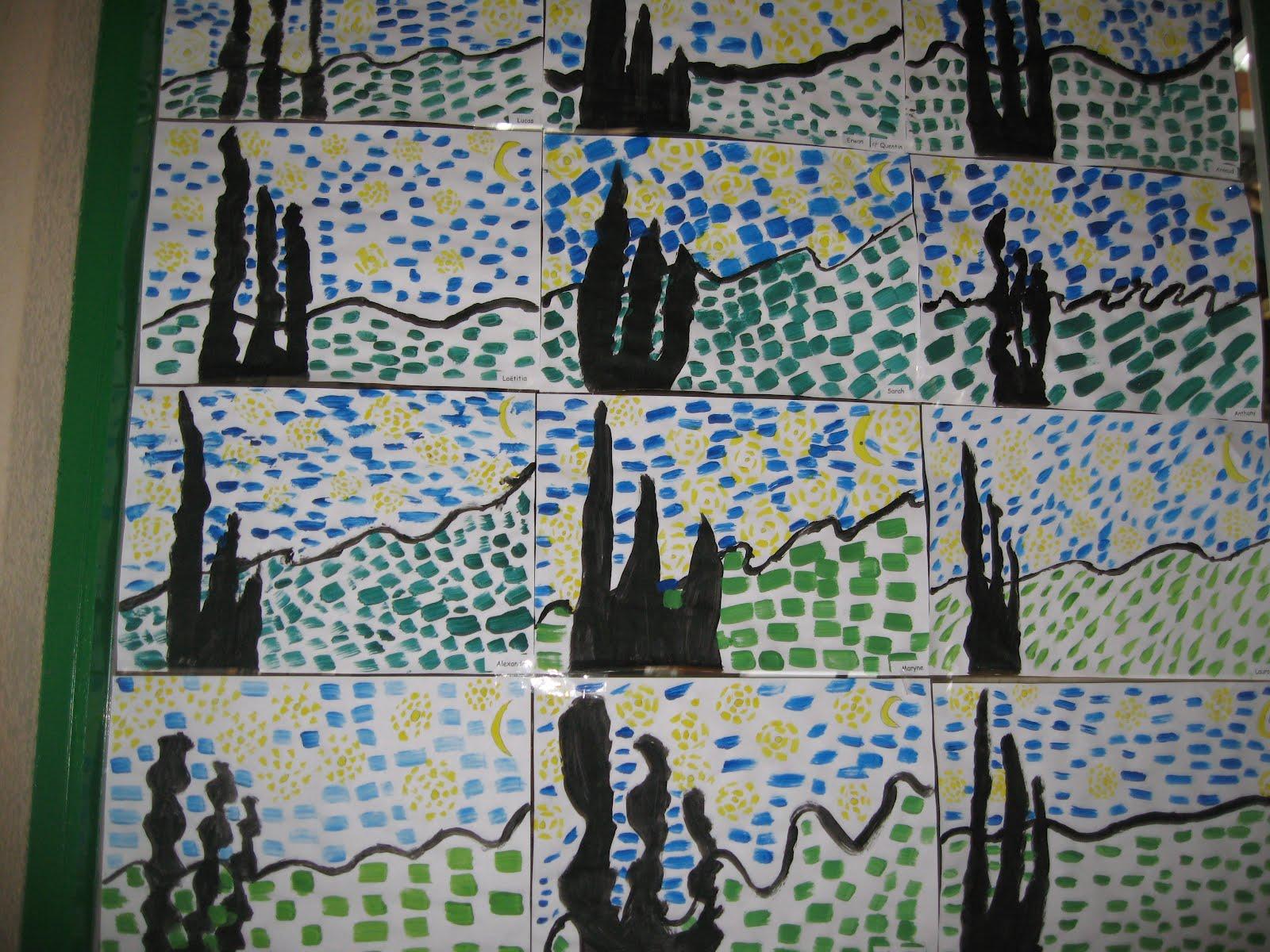 Sehr Groupe Scolaire du Vic-Bilh: La nuit étoilée de Van Gogh SE94