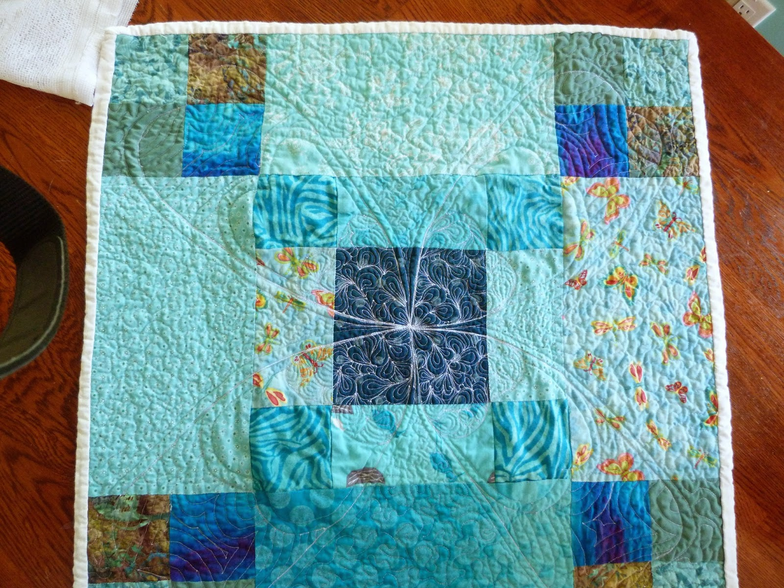 turquoise table topper