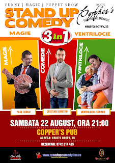 Stand-Up Comedy Magie si Ventrilocie Sambata 22 August