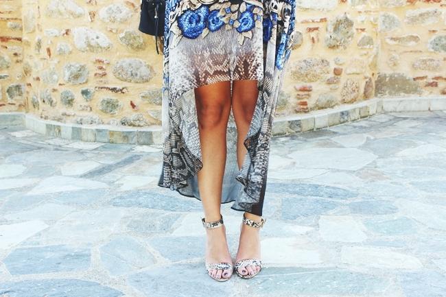 Snakeskin outfit.Snakeskin dress and sandals.Bershka skinny belt.Zmijski print haljina i sandale.