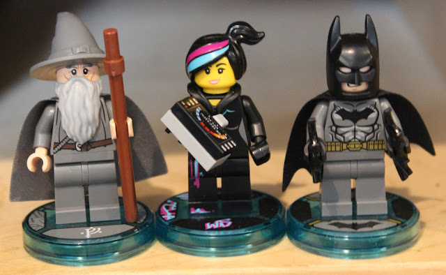 Lego Dimensions starter pack minifigures - Gandalf, Wyldstyle and Batman