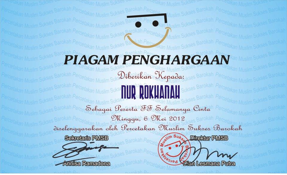 piagam sertifikat penghargaan