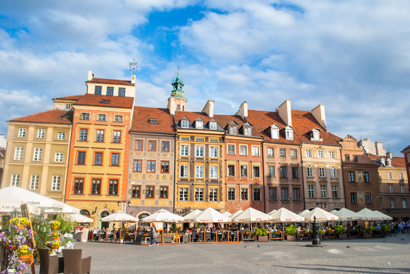 warsaw poland Old town market square