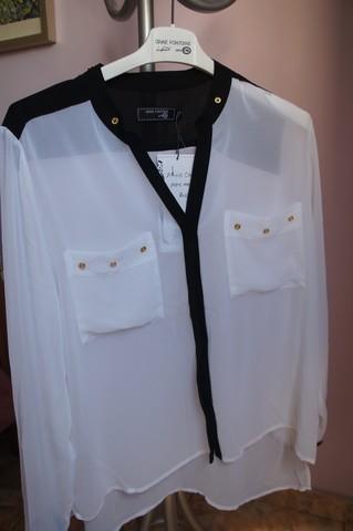 Minha camisa em preto e branco da Coleção de Anne Fontaine