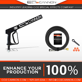The World Famous DJ Co2 Cannon Handheld Special Effects Gun only from Co2cannon.com Sells at 219.00