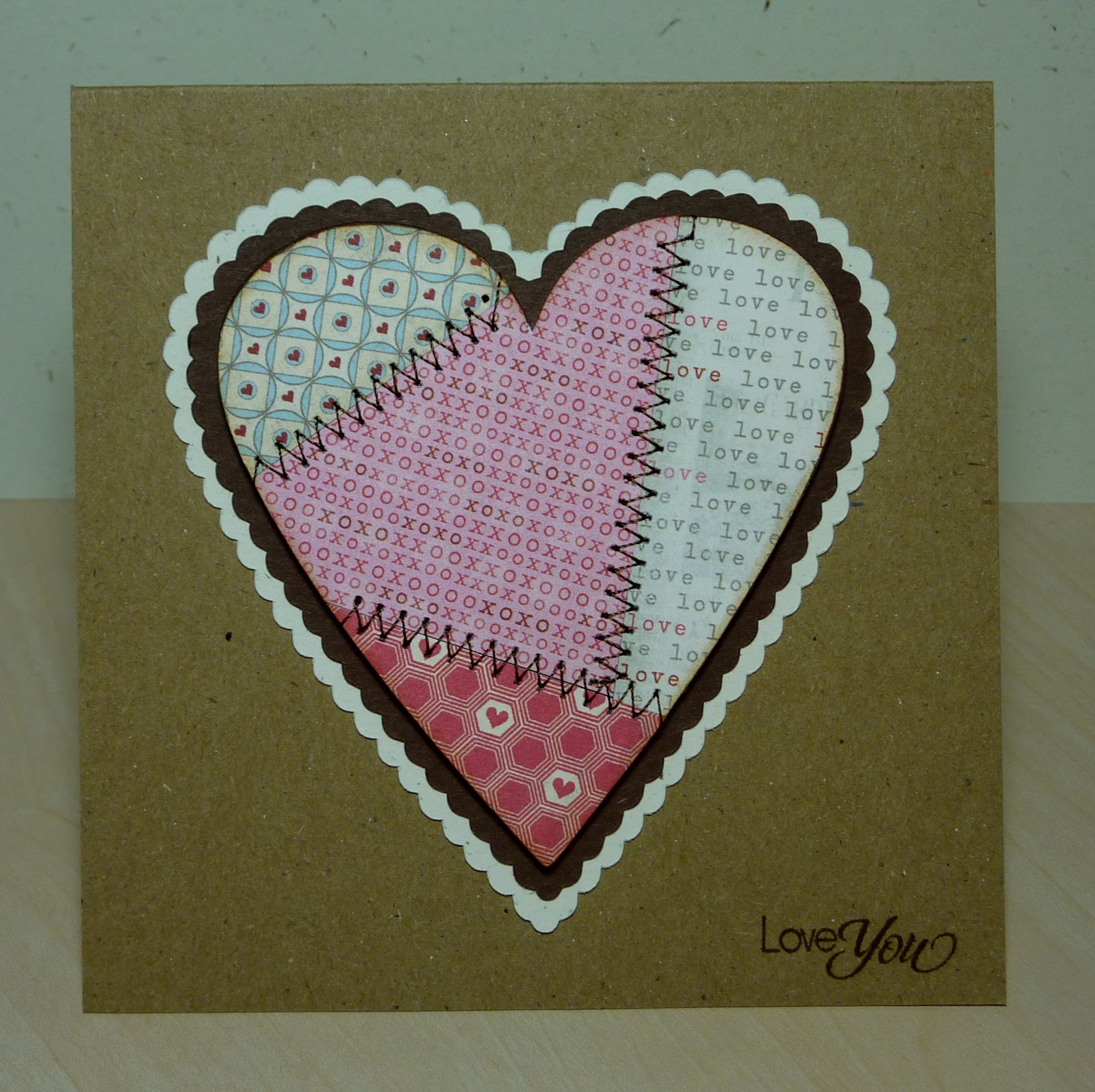 crafting with katie  patchwork heart card