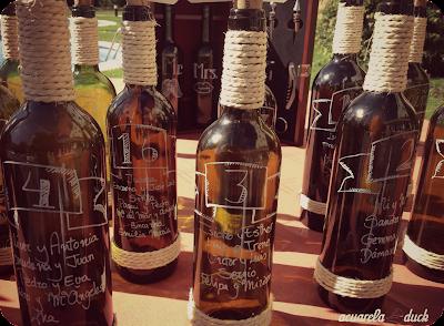 listas boda botellas