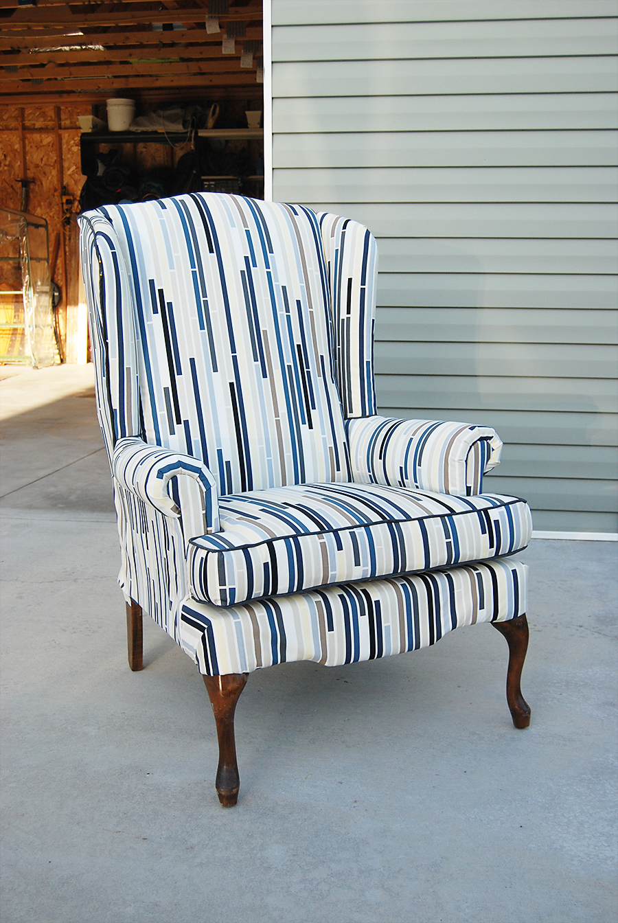Lemonade and porch swings how to reupholster a wingback for How to reupholster a chair