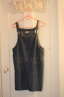 upcycled denim dress with scarf